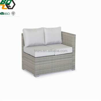 2017 luxury garden furniture l shaped rattan sofa sets outdoor lounge sofa