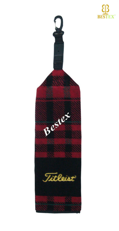 Unique Cotton Woven Yarn dyed Checkered personalized various styles golf towel