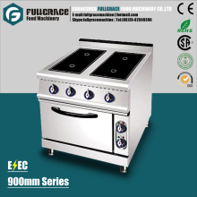 popular 4 head free standing stainless steel commercial induction cooker with baking oven