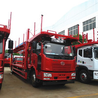 Left hand drive or Right hand drive 4x2 2 axles vehicle transport 5 seats truck car carrier 5 car carrier truck trailer for sale