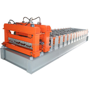 Popular type double layer 950+1000 Metal roof slate/shake corrugated sheet glazed tile roll forming machine from China