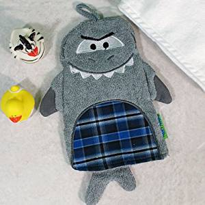 Shark Wash Mitt, 3D features, Great for Bath Time
