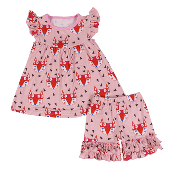 fb67b73d7c35d 2018 cheap china wholesale kids clothing milk silk pearl tunic shorts fox  girls  clothing sets