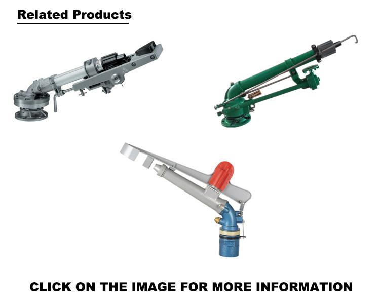 High Pressure Agricultural Irrigation System 2 Inch Long Range Rotate 360 Degrees Big Water Rain Gun Sprinkler