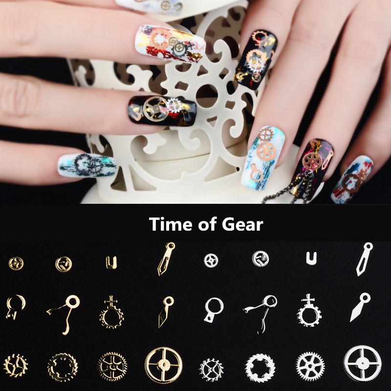 Fashionable Japanese Style Nail Art Decoration Steampunk Machinery ...