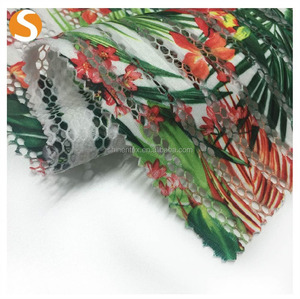 Basic Item polyester spandex printed mesh polyester mesh fabric for running shoes