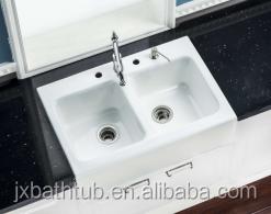 Composite Apron Kitchen Sinks Undermount Double Bowl Cast Iron ...