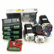 CNC Router 4 Axis kit 4 stks TB6600 stappenmotor driver + 4 stks <span class=keywords><strong>NEMA</strong></span> <span class=keywords><strong>23</strong></span> 425 oz motor + 350 w voeding