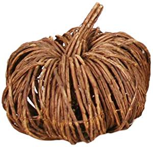 Garden Decoration RBS1759A-4 Wooden Pumpkin Garden Accent, 10.5 by 8-Inch