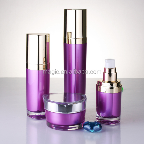 Triangle Shape Acrylic Lotion Bottles And Cosmetic Jar