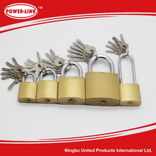 Iron Padlock With Brass Color,with 6pcs Iron Keys