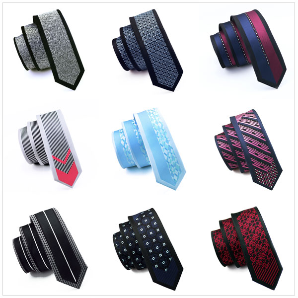 16 стиль тонкий галстук пограничной установленного образца многоцветный тощий узкие gravata шелк жаккард галстуков для мужчин 6 см ширина свадебное платье