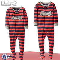 Boys' Striped Footed Coverall Baby Onesie Pajamas