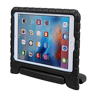 iPad Air 2 Case, Auttbi Apple iPad Air 2 Case Shockproof Case Light Weight Kids Case Super Protection Cover Handle Stand Case for Kids Children For Apple iPad Air 2 (2014 Released) (Black)