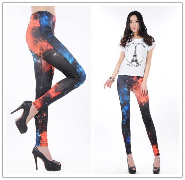 Fashionable Women's Dazzle beautiful Mars Galaxy Leggings ...