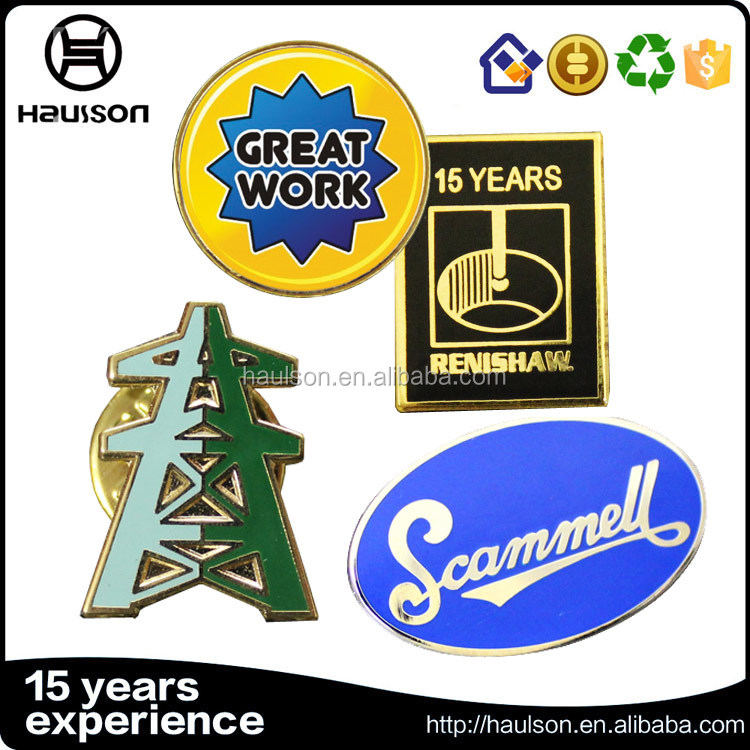2016 China wholesale cheap oval shape die stamping brass 9999 silver plating hard enamel custom logo badge