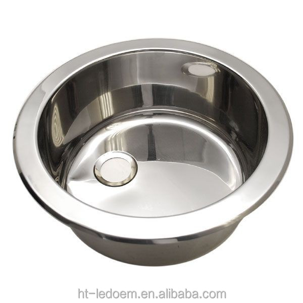 Customized Polished Stainless Steel 12 Inch Undermount Boat Round