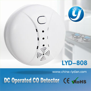 EN50291 approved low price carbon monoxide detector with 9V battery