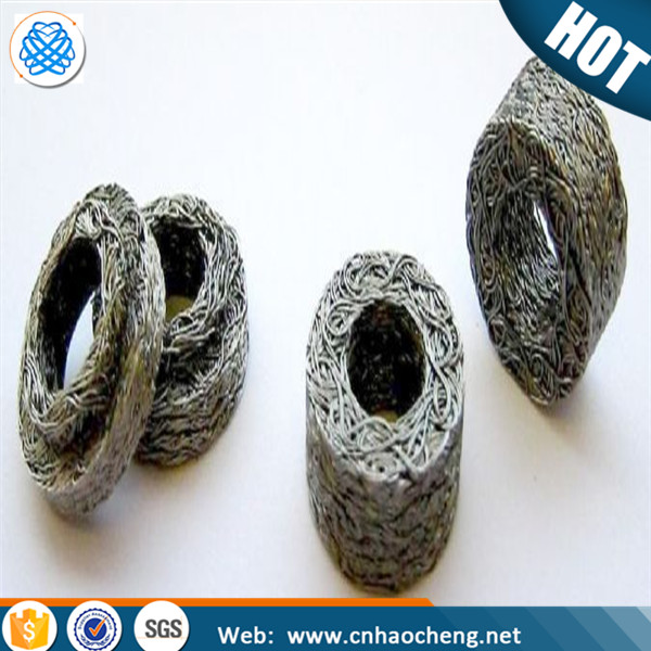 Gas Liquid Filter Wire Mesh / Knitted Stainless Steel Wire Mesh