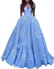 Элегантное бальное платье с открытыми плечами, атласное платье для выпускного вечера, платье в пол, кружевное платье с аппликацией, бальное ...(Китай)
