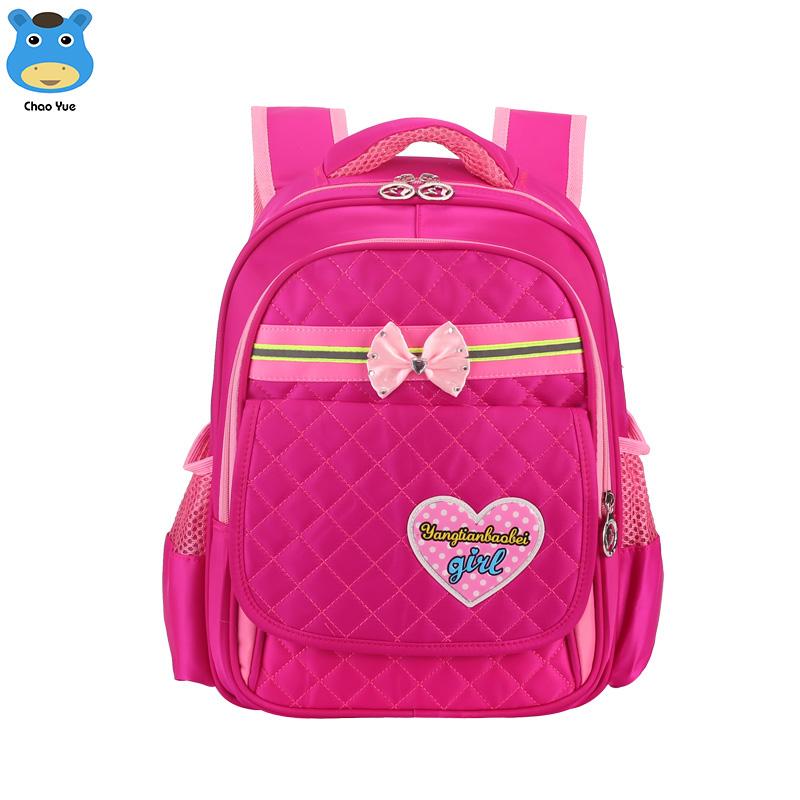 2018 wholesale cheap kids 230D nylon rose red school bag backpack fb6fdb374bd38