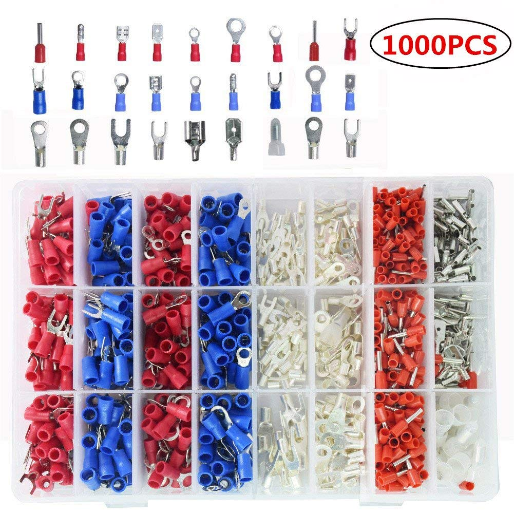 FidgetFidget Car Audio Quick Splice Crimp Terminal /& Male Spade Wire Connector 60Pcs 22-10AWG