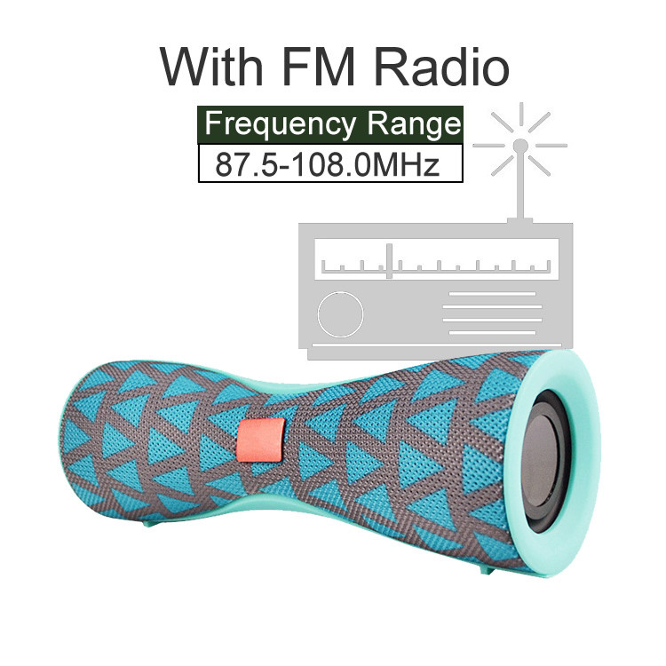portable audio fm radio mp3 usb battery charge wireless small round  battery charge  powered pa speakers home