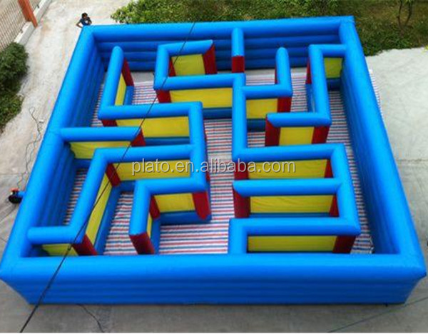 High Quality Oxford Cloth Ball Bearing Maze Game/Giant Inflatable Maze Haunted For Sale