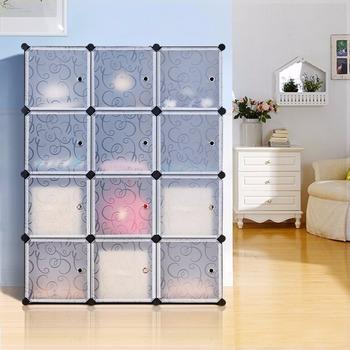 Bon 6 Cube Modular DIY Closet Cube Organizer With 3 Tier Cubby Shelving  Bookcase Cube Storage Cabinet