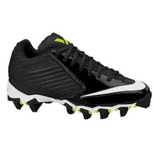 48e8619fe42 Get Quotations · New Nike Vapor Shark Youth 3.5y Football Cleats  Black White 643161