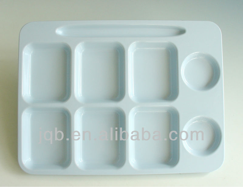 New Type square heat resistance melamine party mess Tray