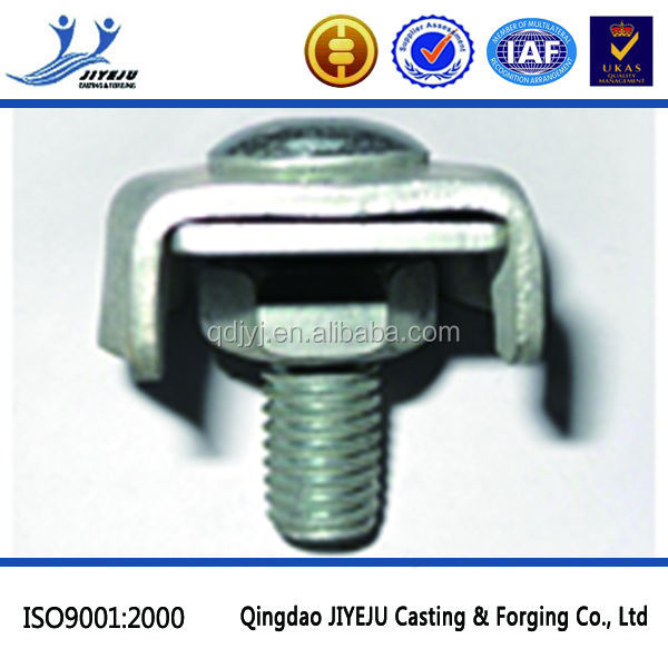 Hardware Rigging zinc plated single egg clamp