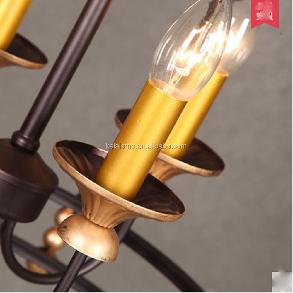 Interieur Vintage Koperen Licht E14 * 6 Lampenvoet Hanglamp ...