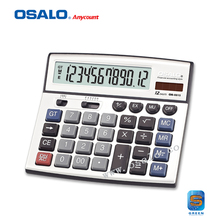 OS-8815 Desktop Financial Calculator Office Calculating 12-Digit Electronic Calculadora Dual Power Solar Big Button Calculadora