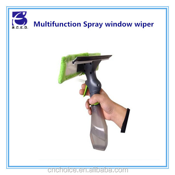plastic household item magic window wiper towel window dust cleaner microfiber cleaning mop with spray gun as seen on tv