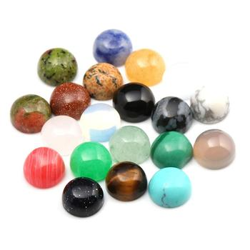 Cabochon Beads Round Random Color CAB Cabochon Beads Crystal Quartz Stone Wholesale for Jewelry Making Diameter