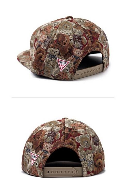 В вышивка жаккард медведь кепка бейсбол регулируемый Ourdoor спорт шляпа для женщины
