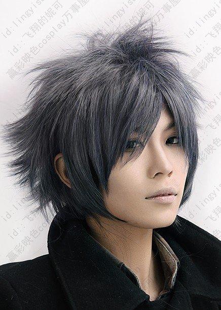 Final Fantasy.Versus.600.Grey short shaggy anime cosplay wig da23e1b9e