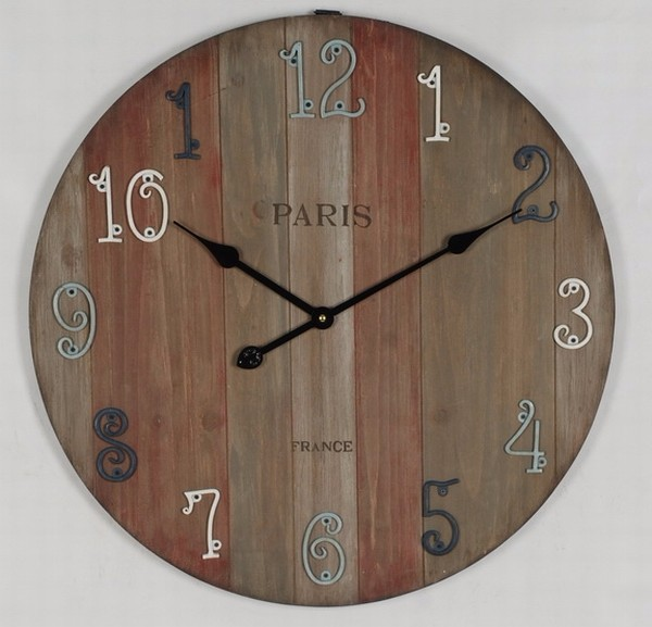 shabby chic en bois horloge murale bois r cup r horloge. Black Bedroom Furniture Sets. Home Design Ideas