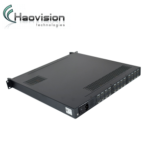 24 in 1 DVB-C DVB T2 HD Encoder with h.264 mpeg4 video encoding for hotel iptv solution