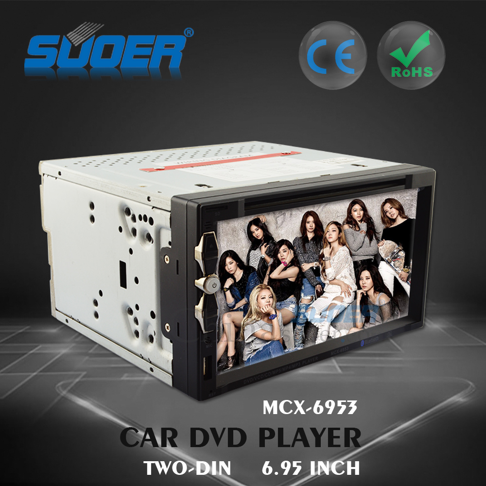 Car MP5 player universal 6.95 inch radio car dvd GPS player with bluetooth