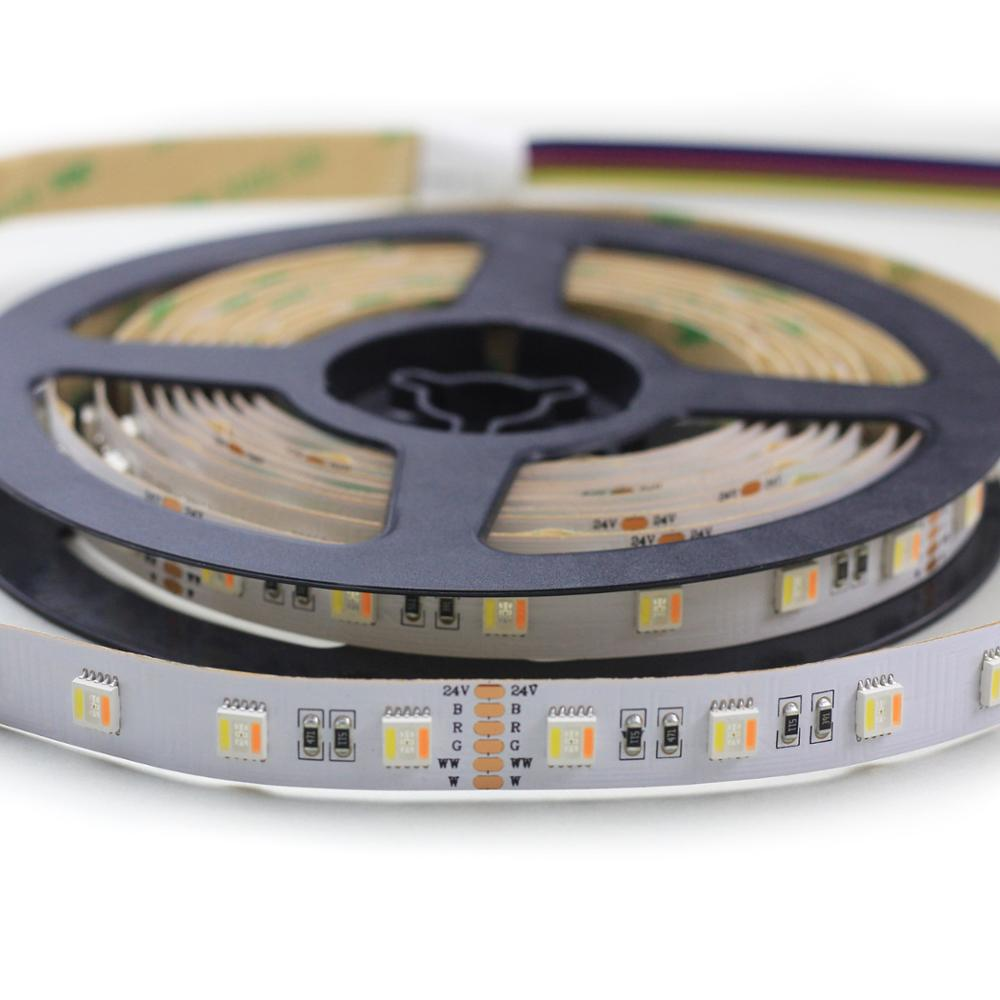 LED strip <strong>RGB</strong> 5050 with warm white & cold white CCT 2700-6500K option