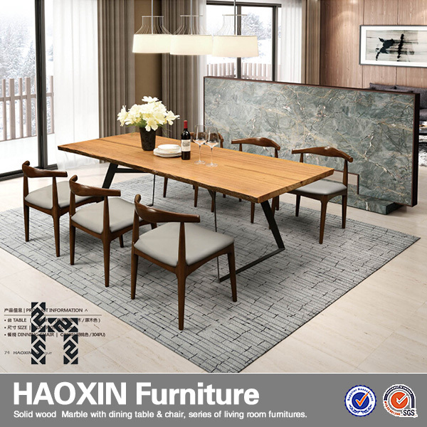 Wholesale New Style Burlywood Finished Wood Veneer Table Top Dining ...