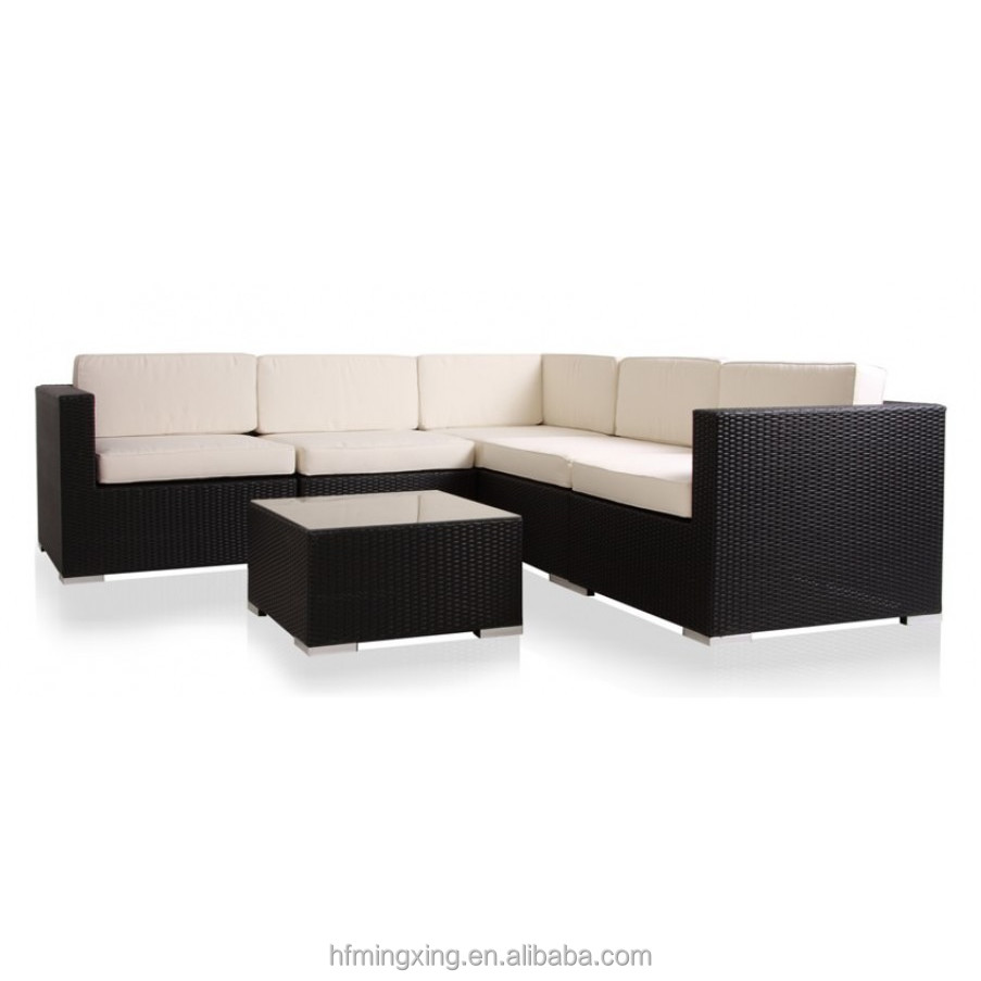 6 Piece Outdoor Sofa Seating Group with Cushions