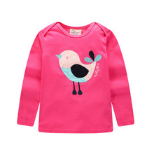 Fashion Baby Girls Cotton Clothes Chicken Print Red T Shirt Round Neck Stylish Tops