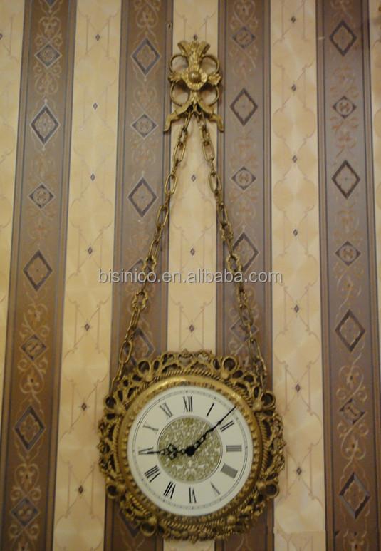 Antique Bronze Wall Clock Clic Decorative Hanging Mounted Art