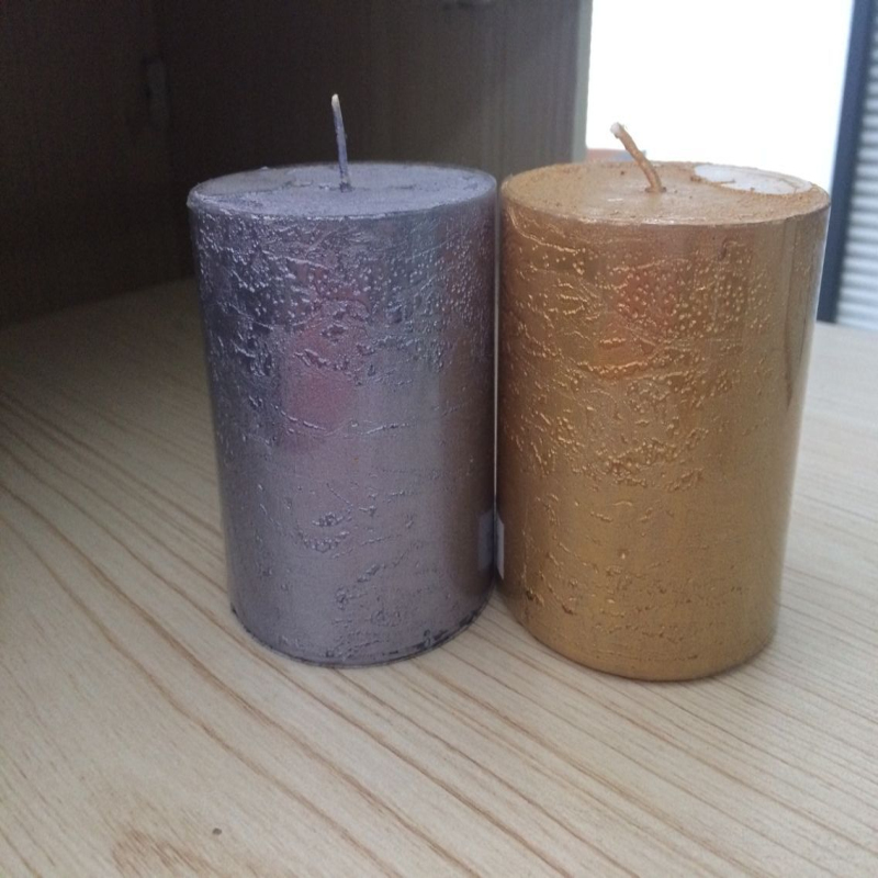 Wholesale Cheap Pillar Colorful Scented Candle