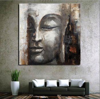 Modern Pure 100 Handpaint Canvas Buddha Oil Painting For Wall Decoration Buy Canvas Oil Painting 100 Handpaint Buddha Oil Painting Modern Canvas