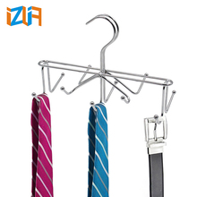 Home Bathroom Supplies Lacquer Iron Wire 10 Hooks Scarf tie display rack
