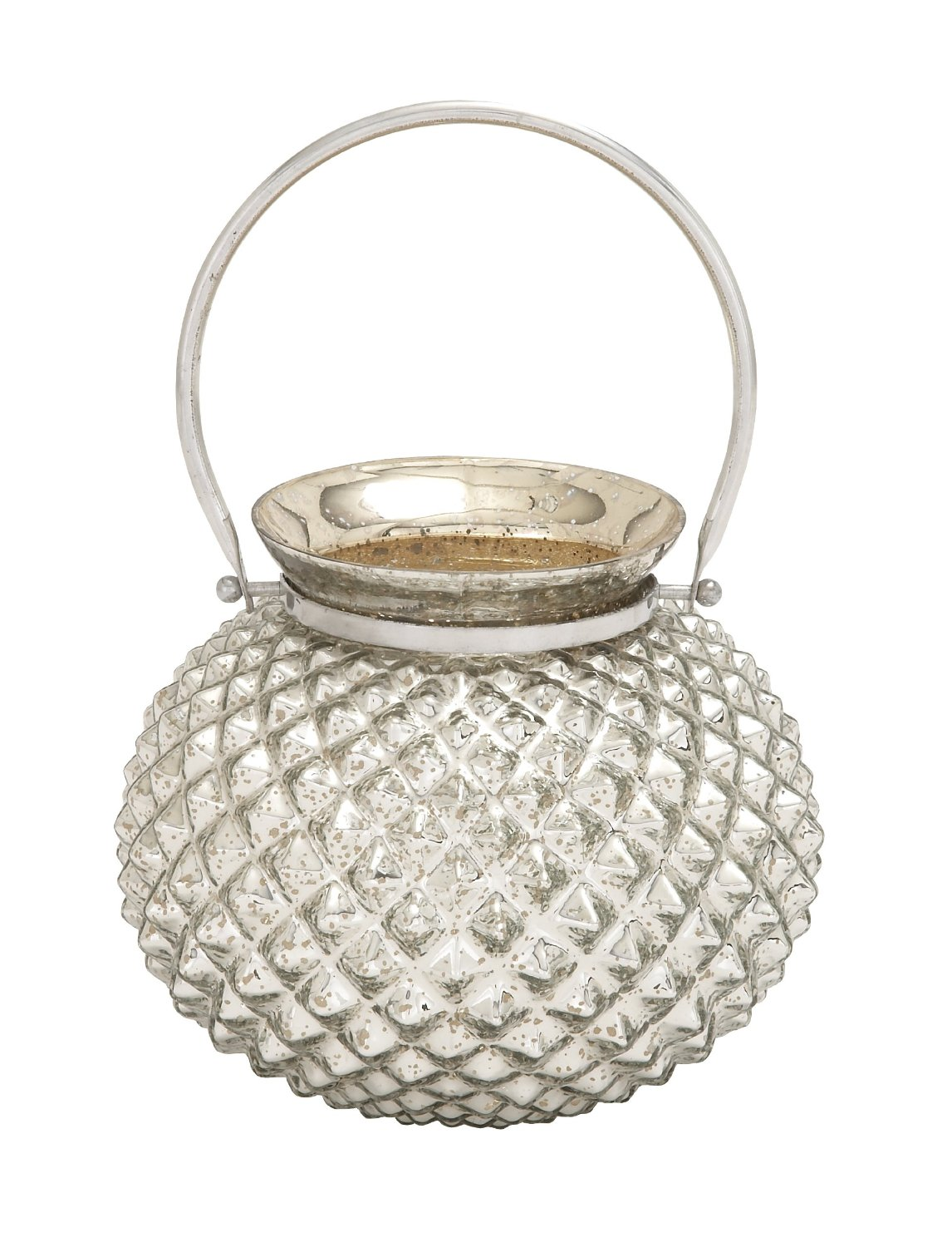 Plutus Brands Striking Attractive Styled Glass Metal Accent